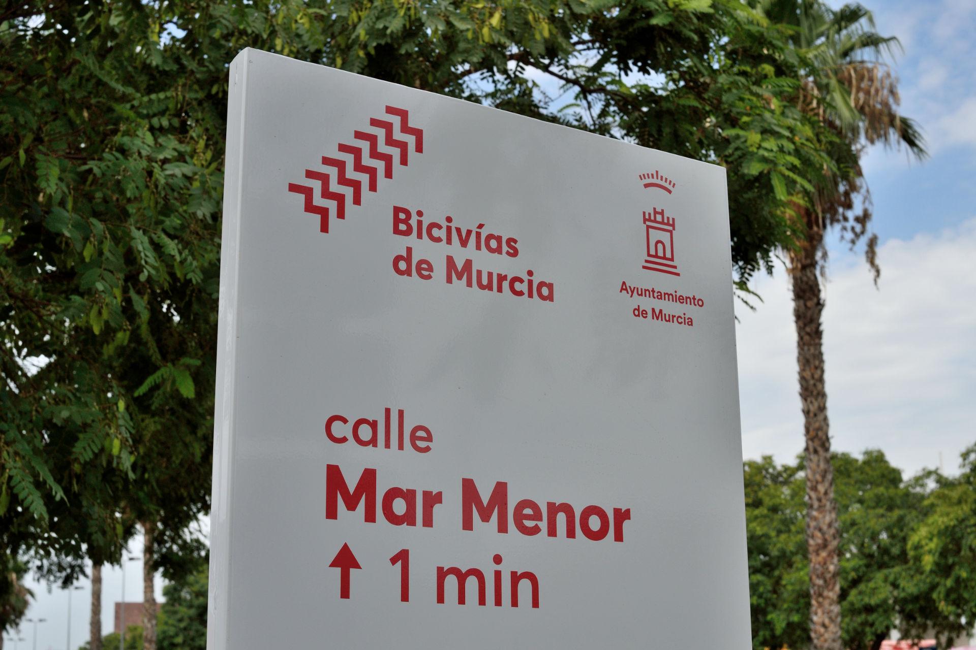 Señalética Bicivías de Murcia