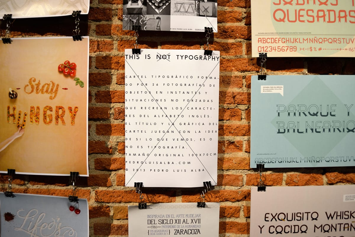 Cartel tipográfico 'This is typography' en Typomad 2013
